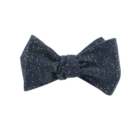 Dark Teal Speck Self Tie Bow Tie from DIBI