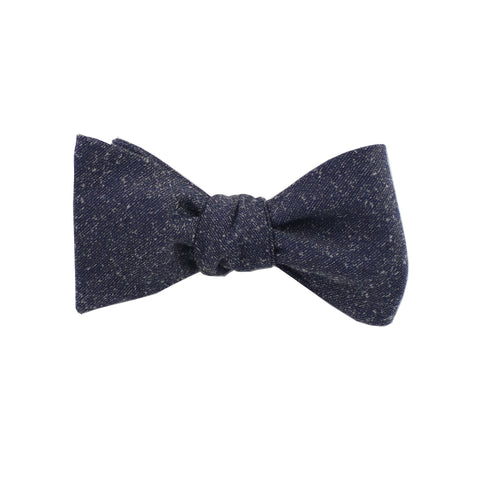 Grey Speck Self Tie Bow Tie
