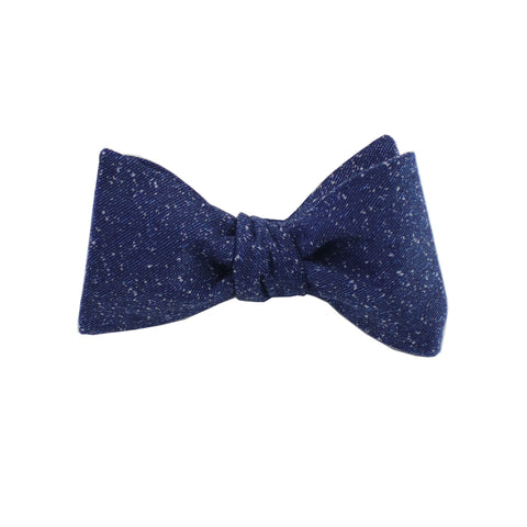 Navy Speck Self Tie Bow Tie