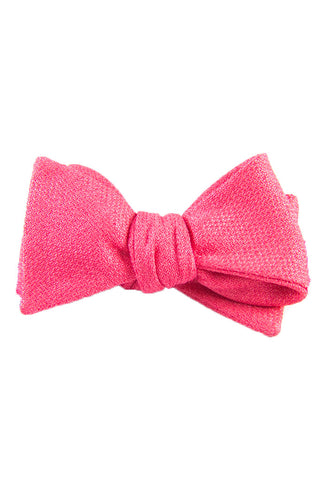 Handsome in Pink Self Tie Bow Tie