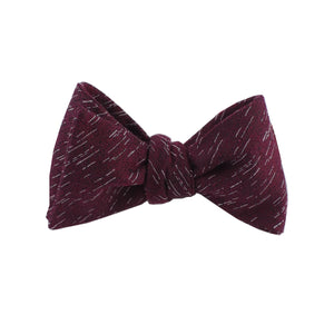 Burgundy Wool Textured Self Tie Bow Tie from DIBI