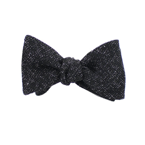 Black Twill Self Tie Bow Tie