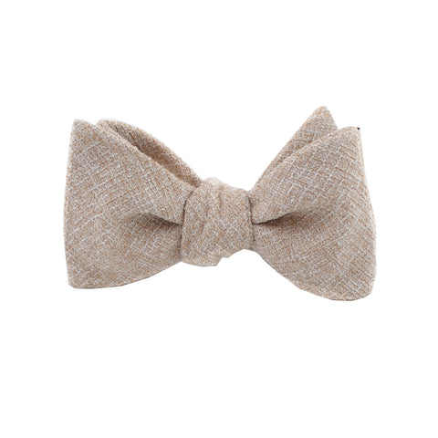 Khaki Twill Self Tie Bow Tie