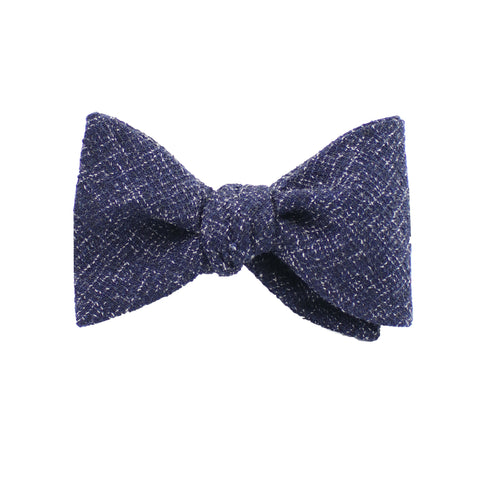 Navy Twill Self Tie Bow Tie