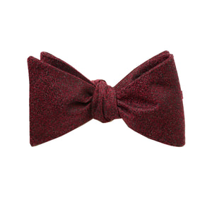 Wine Textured Self Tie Bow Tie