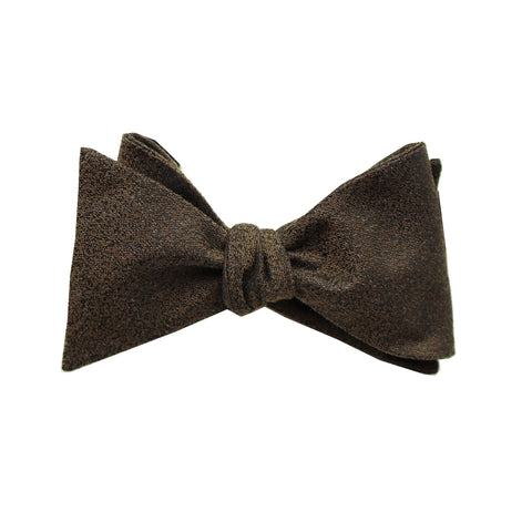 Brown Textured Self Tie Bow Tie