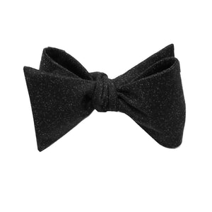 Black Textured Self Tie Bow Tie