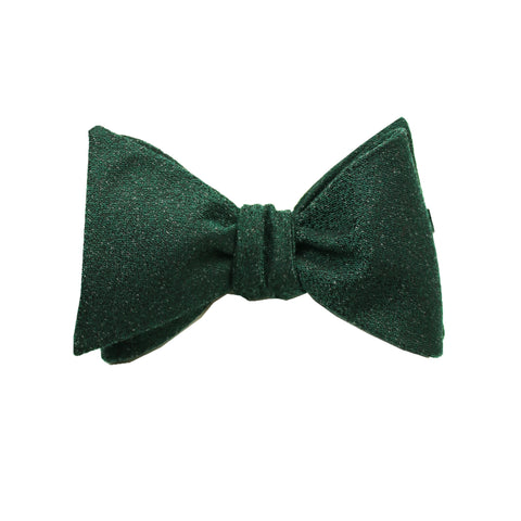 Forest Green & Black Textured Self Tie Bow Tie