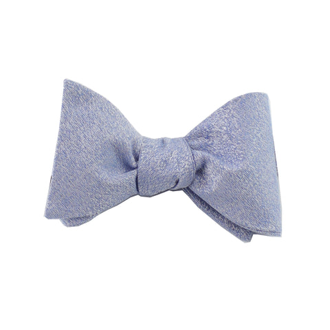 Light Blue Textured Self Tie Bow Tie