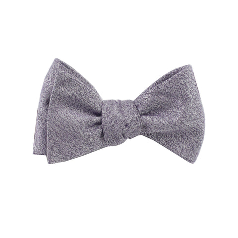 Lilac Textured Self Tie Bow Tie