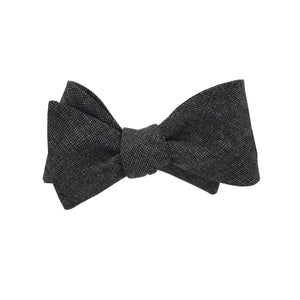 Charcoal Textured Self Tie Bow Tie