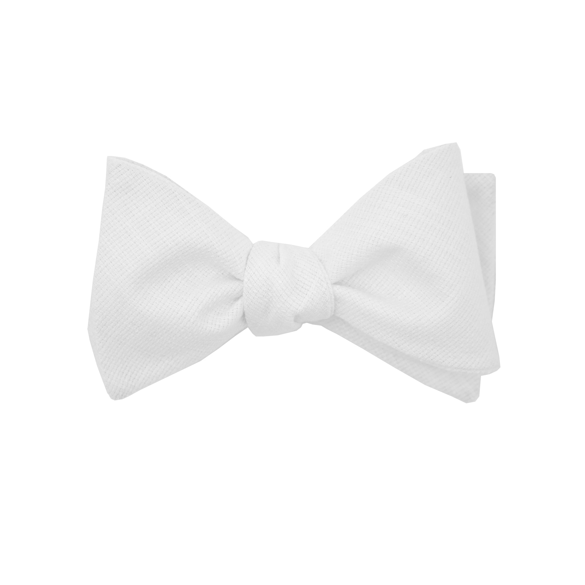 White Self Tie Bow Tie