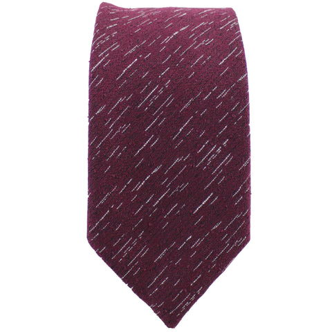 Burgundy Wool Textured Tie