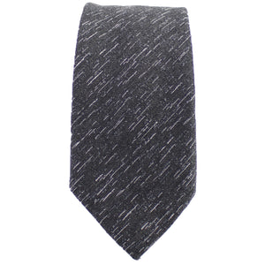Charcoal Wool Textured Tie from DIBI