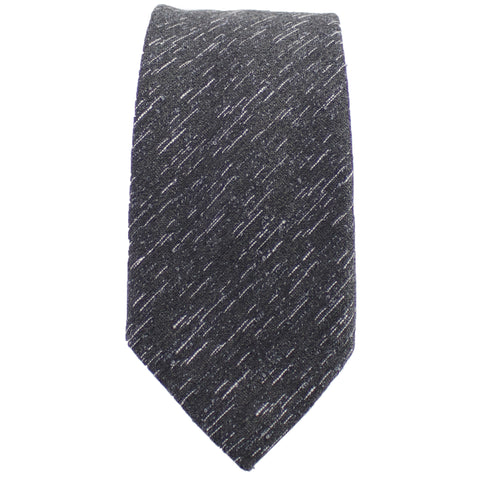 Charcoal Wool Textured Tie