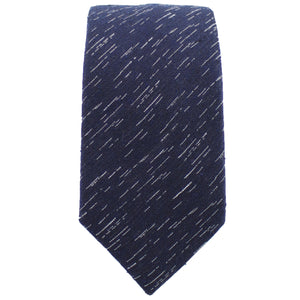 Navy Wool Textured Tie from DIBI