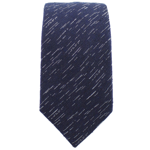 Navy Wool Textured Tie