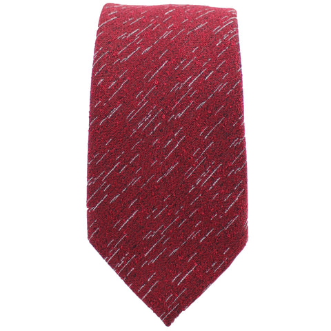 Red Wool Textured Tie