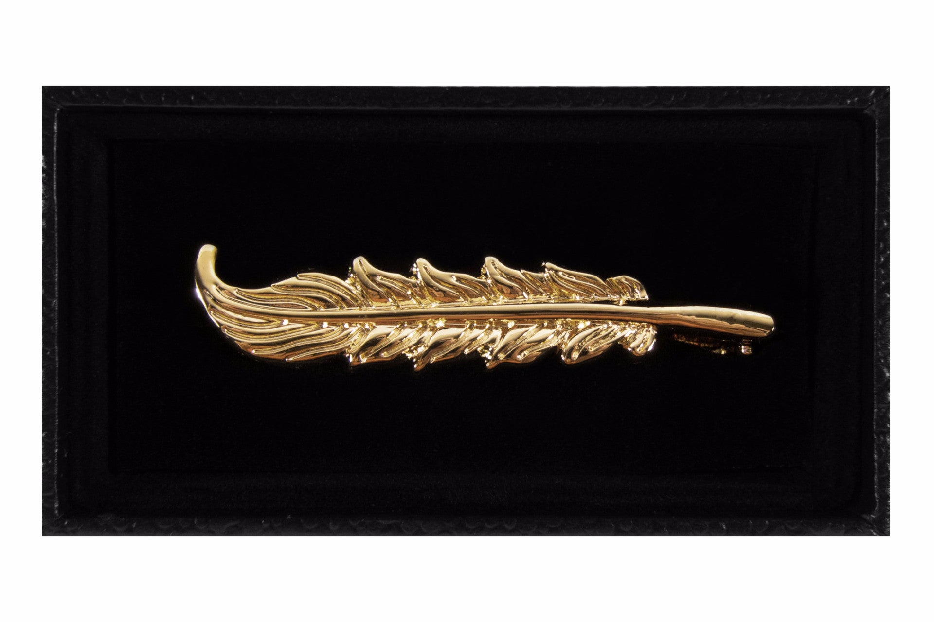 Gold Feather Tie Clip