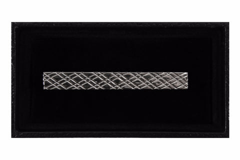 Silver Lattice Tie Clip