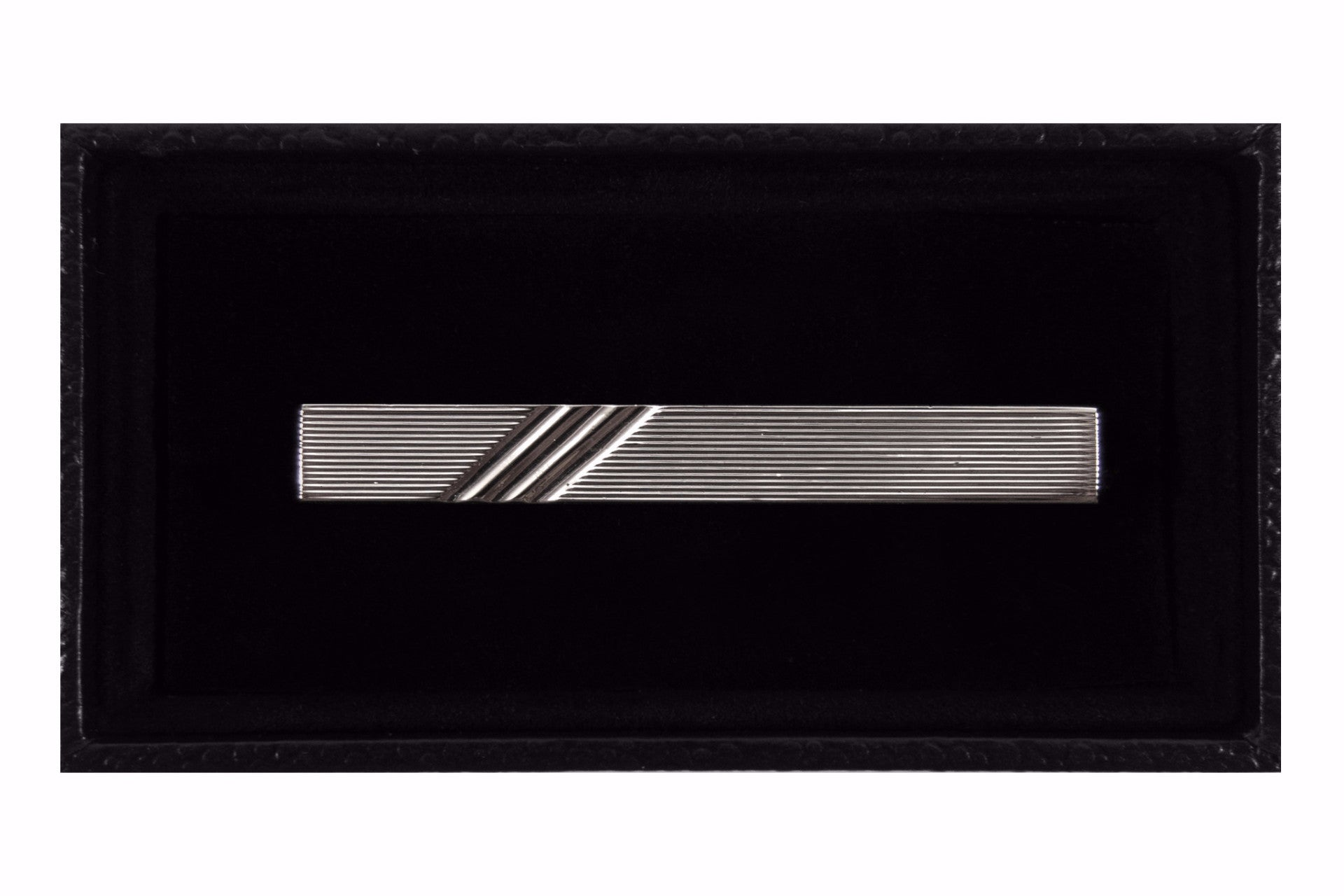 Silver Three Stripes Tie Clip