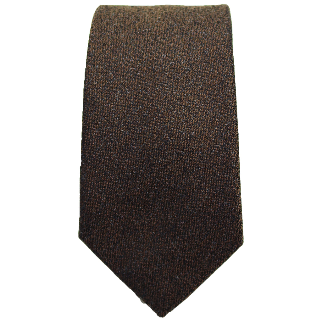 Brown Textured Tie