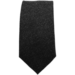 Black Textured Tie