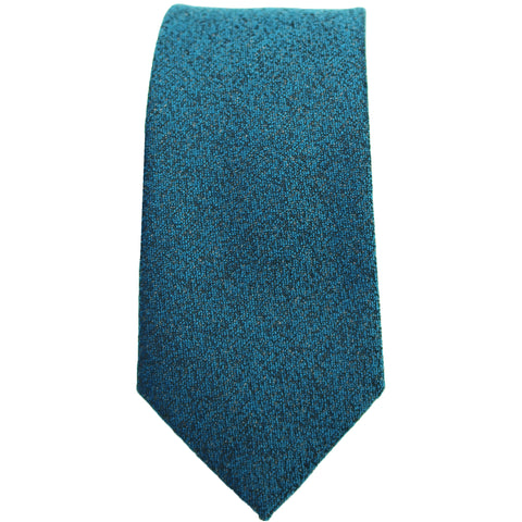 Aqua & Black Textured Tie