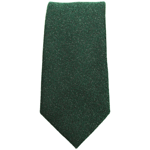 Forest Green & Black Textured Tie