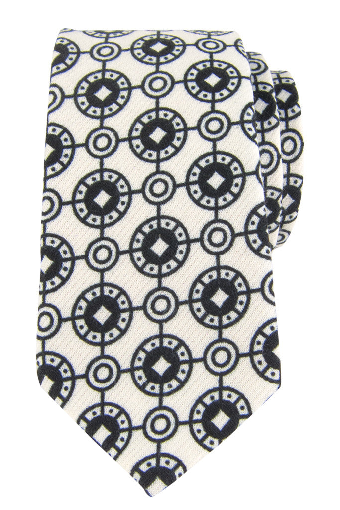 White Coinage Tie