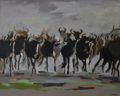 Wildebeasts- 24x30