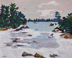 Winter Scene in Nova Scotia - 24x30
