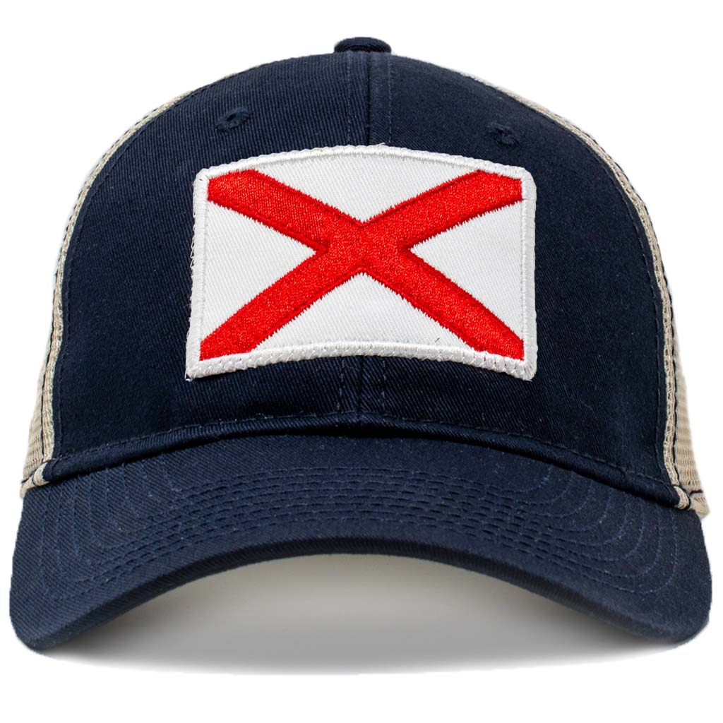 alabama flag mesh hat