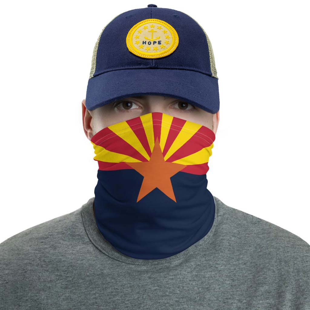 arizona flag face mask gaiter