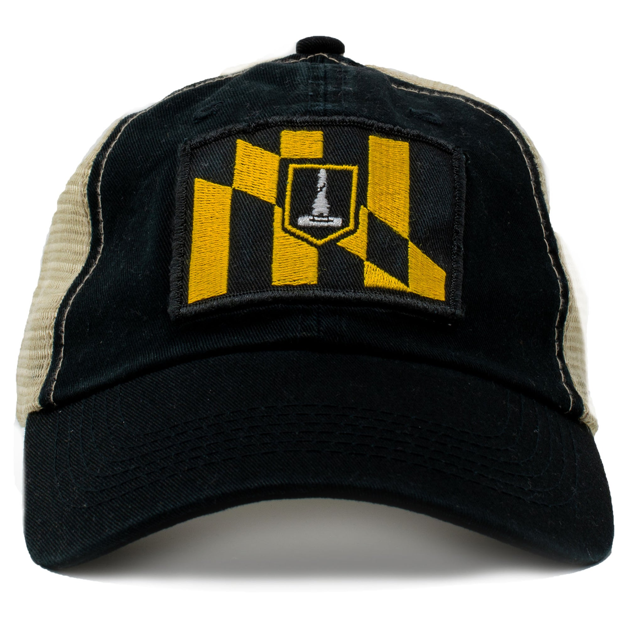 Baltimore Maryland city flag trucker hat