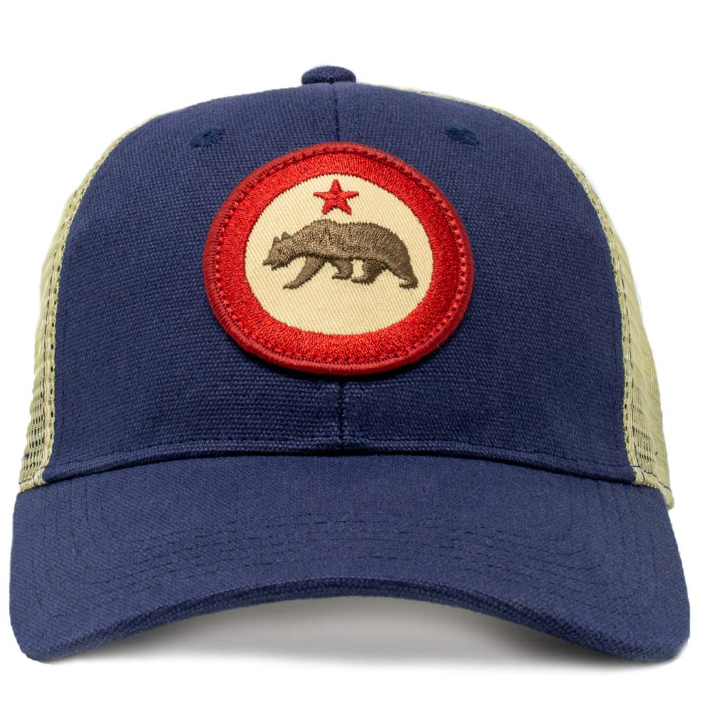 California roundel mesh trucker hat