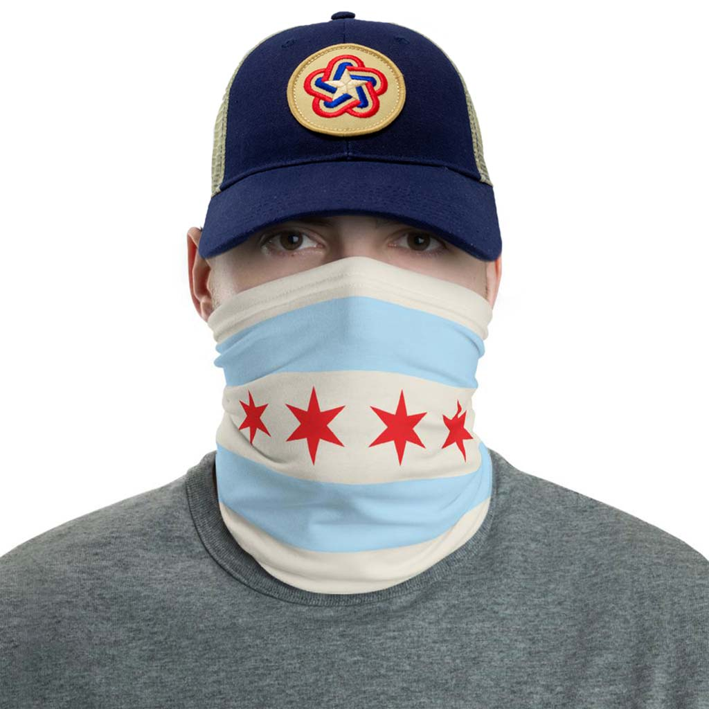 Chicago Flag Face Mask gaiter