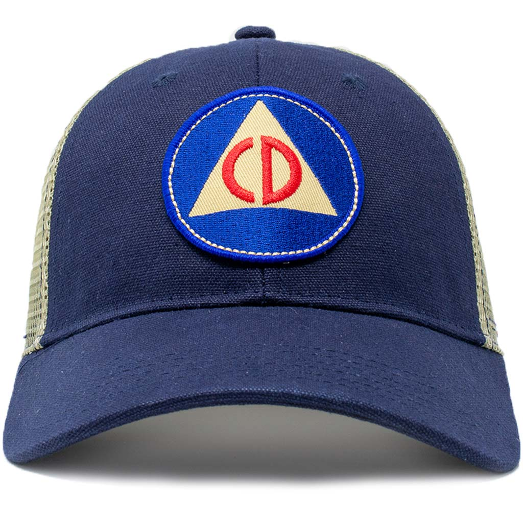 Civil Defense Vintage Mesh Trucker Hat