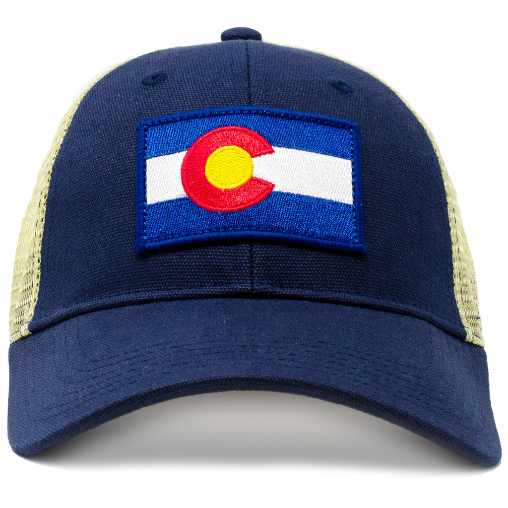 colorado vintage state flag cap with embroidered patch and classic mesh f1192fe01774