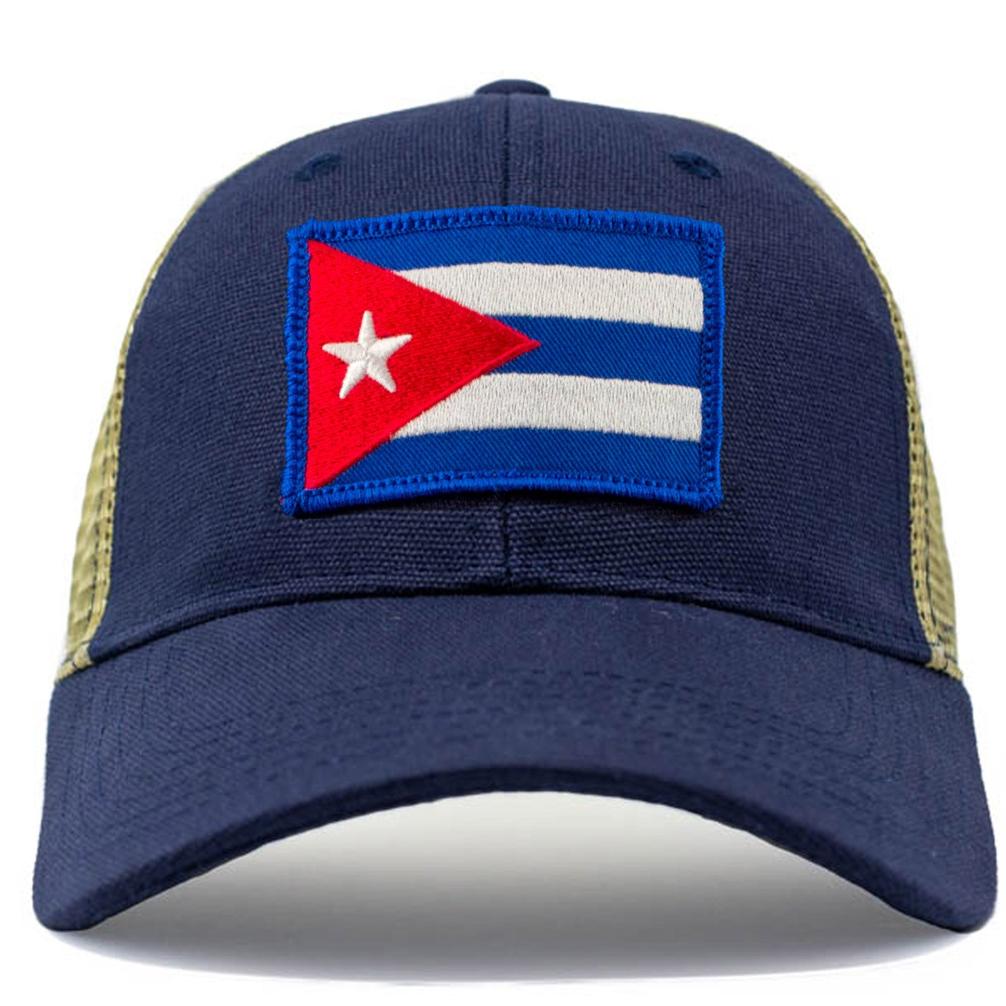 cuba flag patch mesh hat