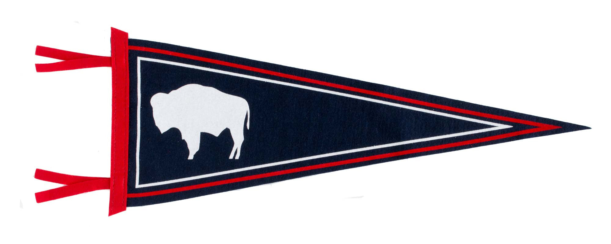 Wyoming State Flag Wool Felt Pennant
