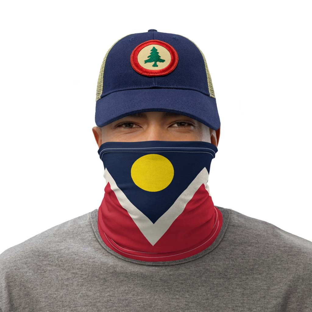 Denver Flag Face Mask gaiter