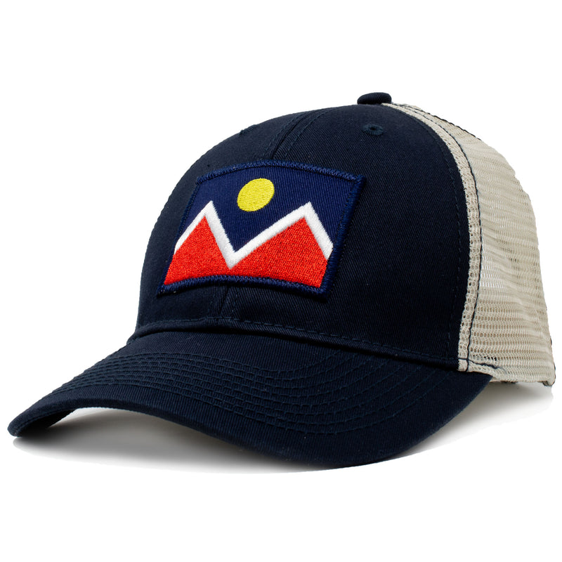 denver vintage mesh hat with embroidered patch