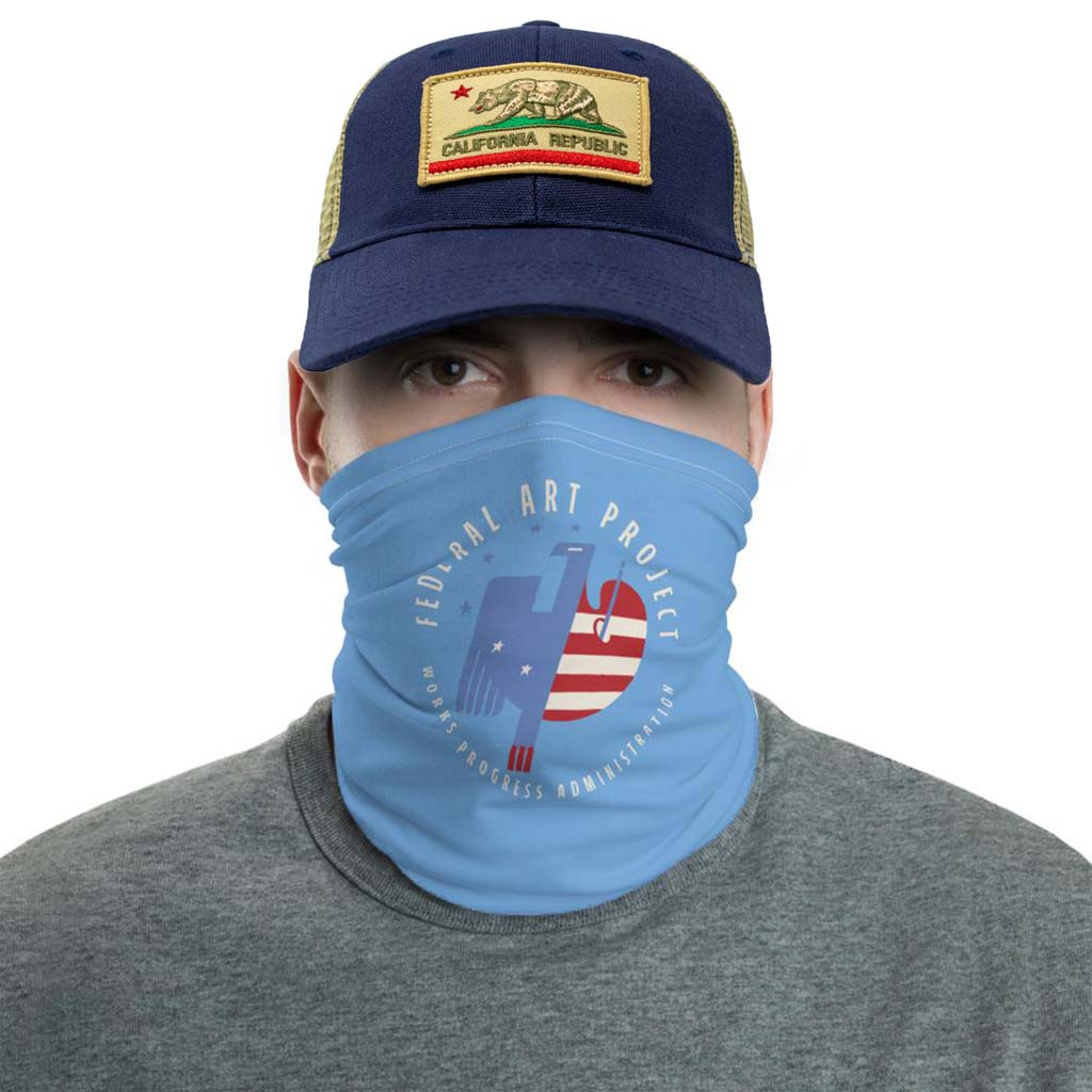 federal art project face mask gaiter