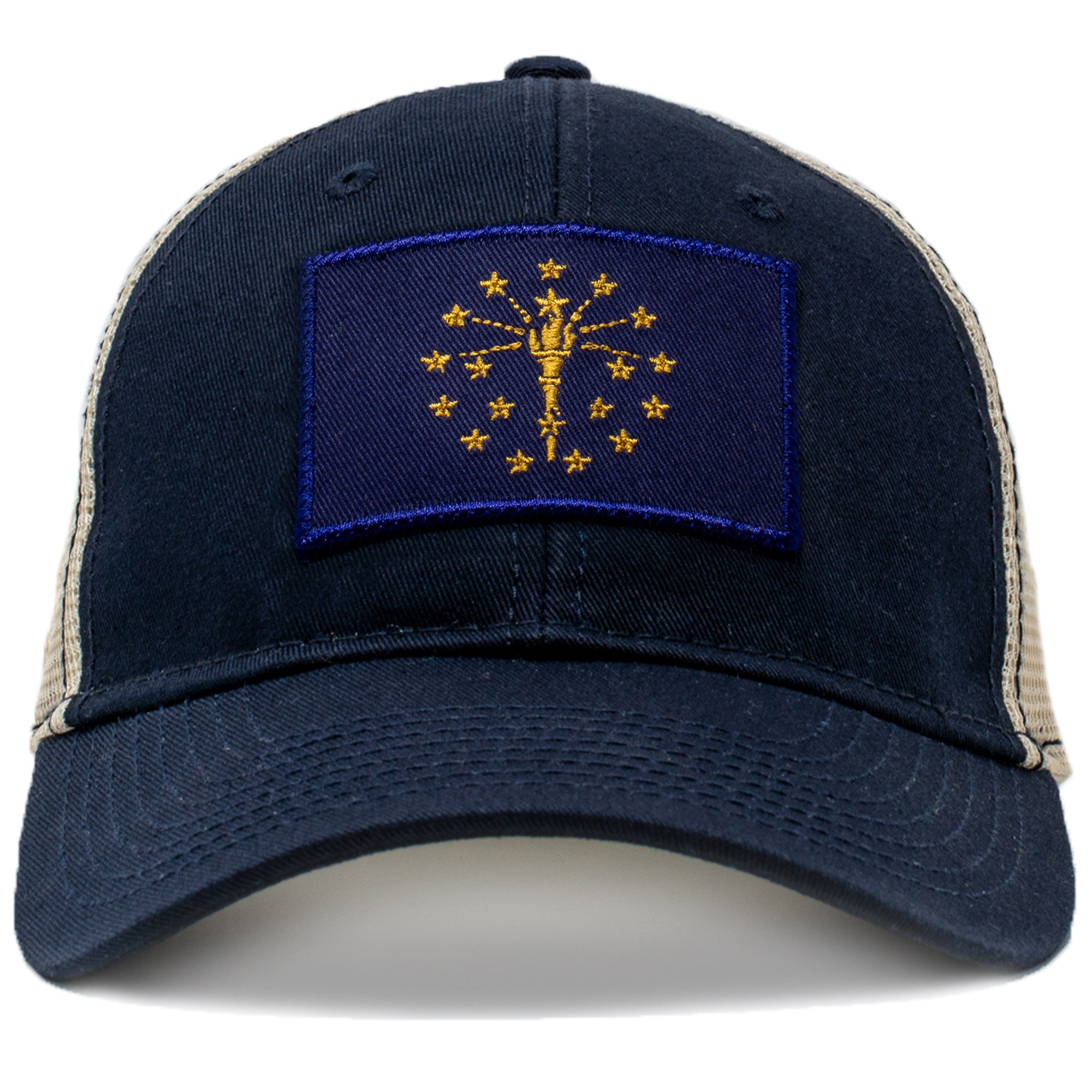 Indiana state flag mesh hat