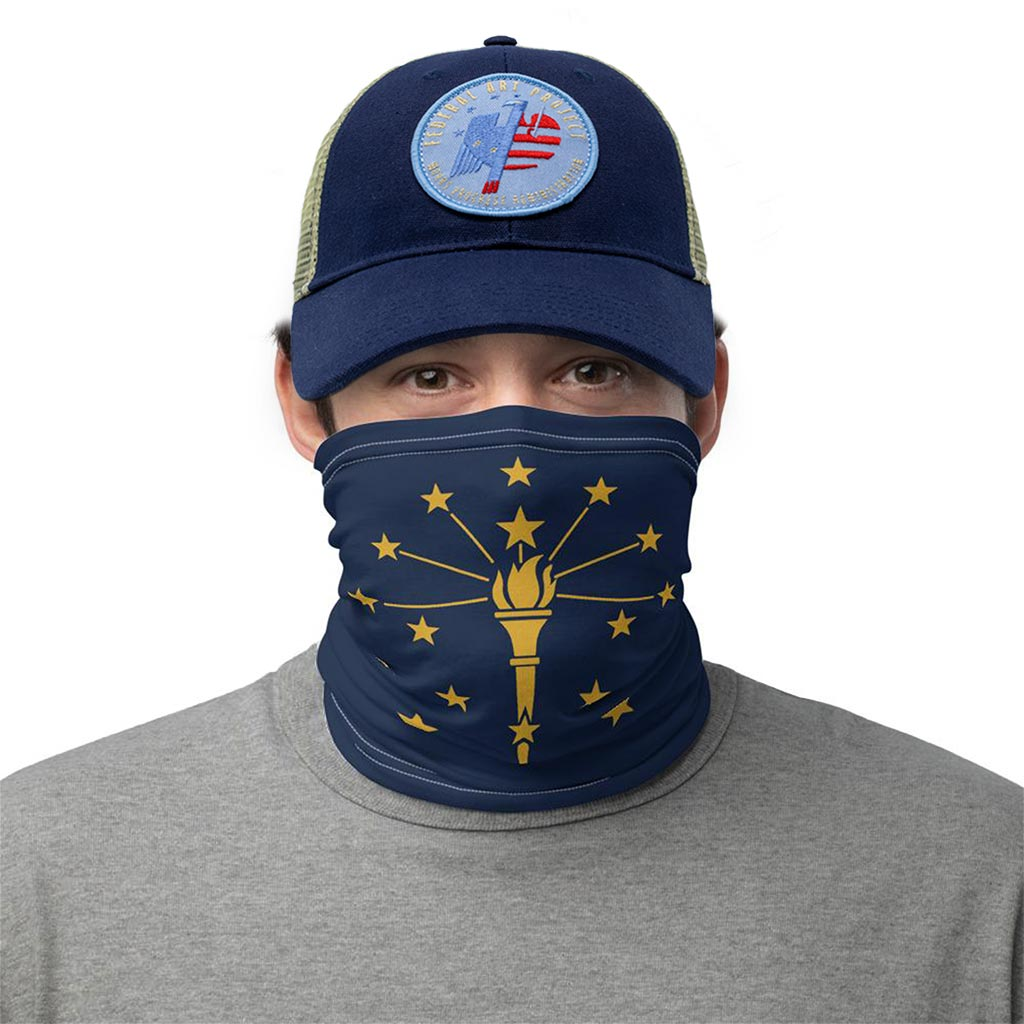 Indiana Flag Face Mask gaiter