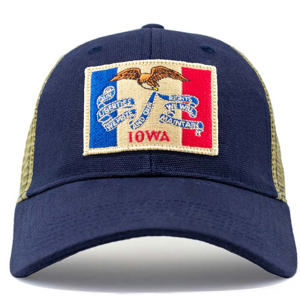 Vintage Iowa Flag mesh hat