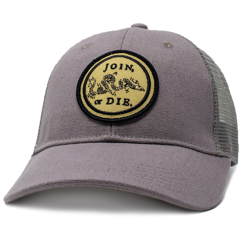 join or die patch trucker hat