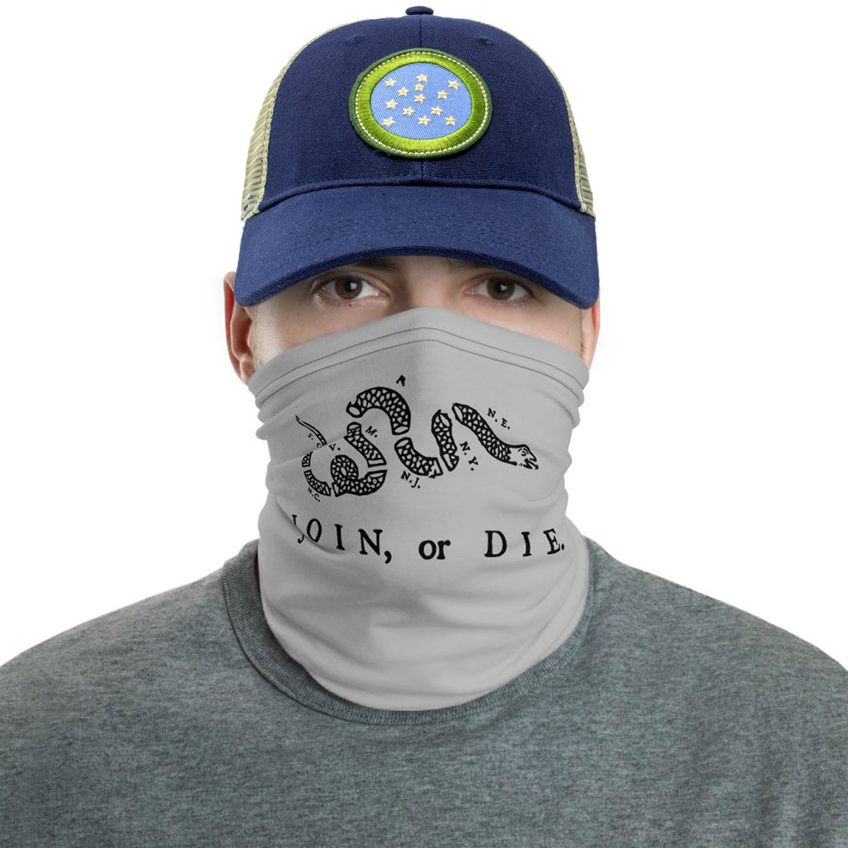 Join or Die Face Mask