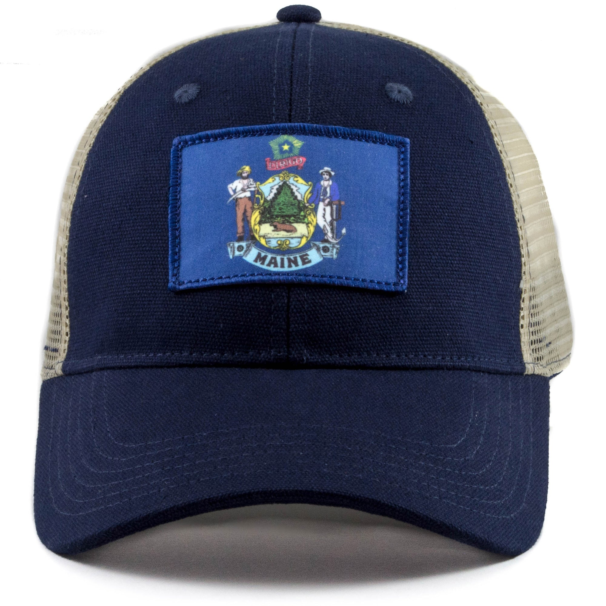 Maine flag trucker hat